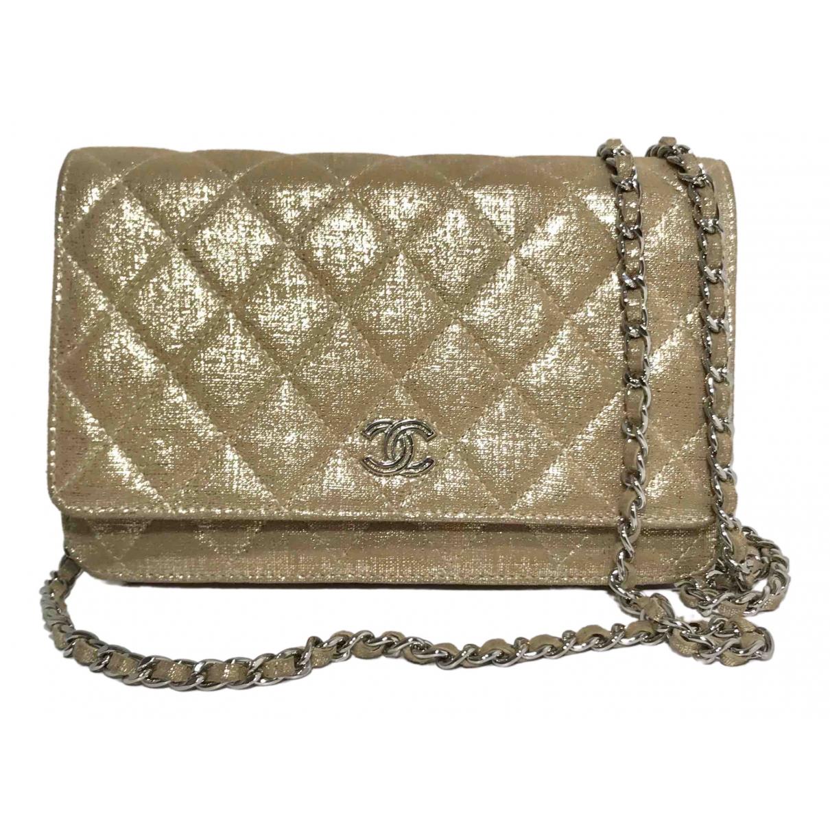 Chanel - Sac a main   pour femme en toile - beige