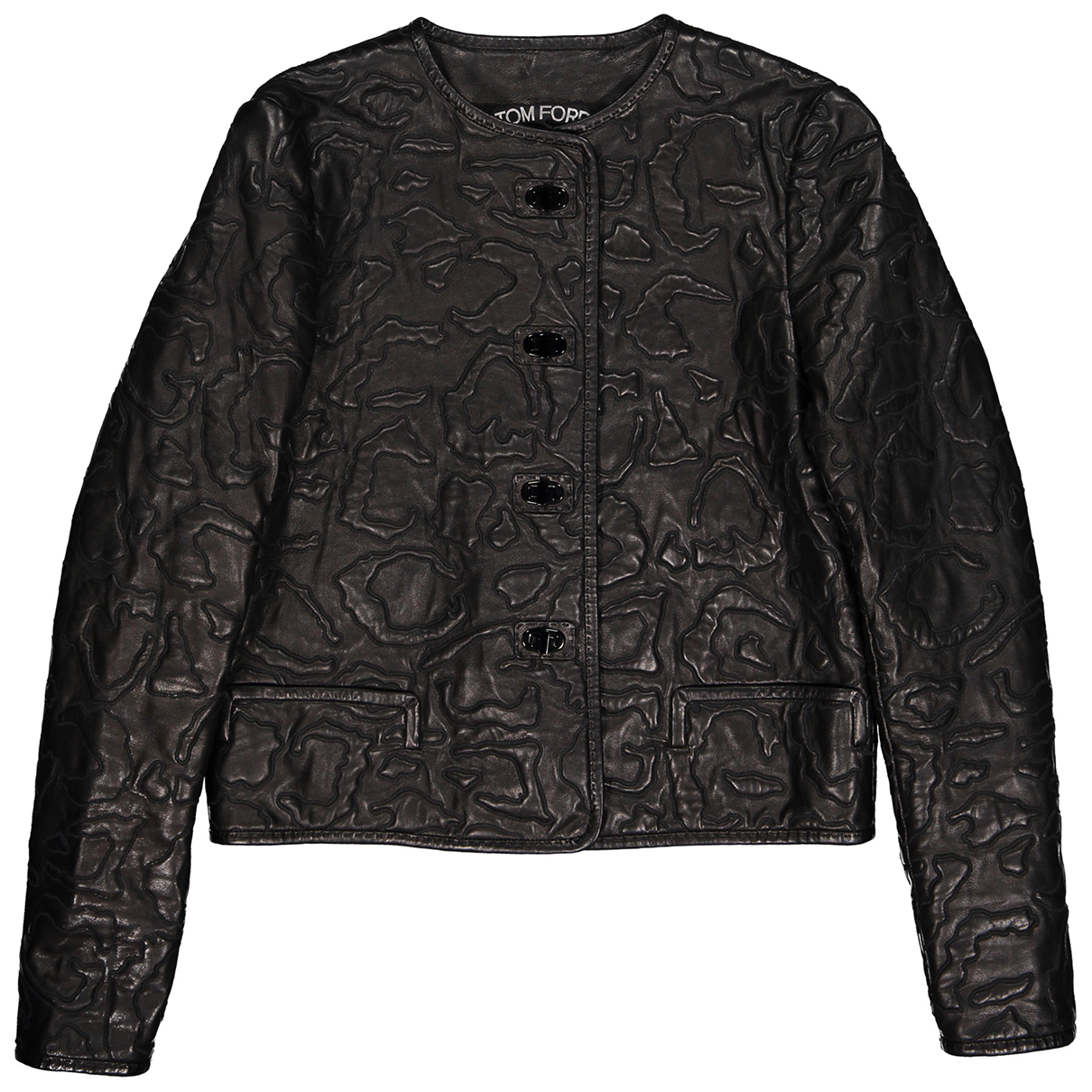 Tom Ford - Veste   pour femme en cuir - noir