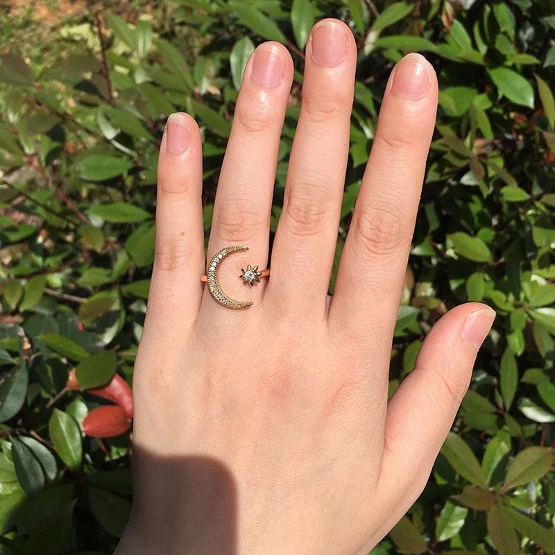 Ericdress Romantic Diamante Engagement Female Rings