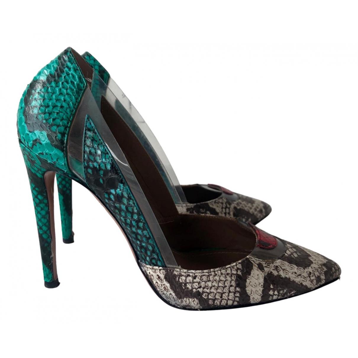Aquazzura N Multicolour Leather Heels for Women 35 EU
