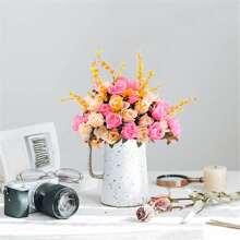 1 Strauss kuenstliche Blumen mit 6 Zweigen