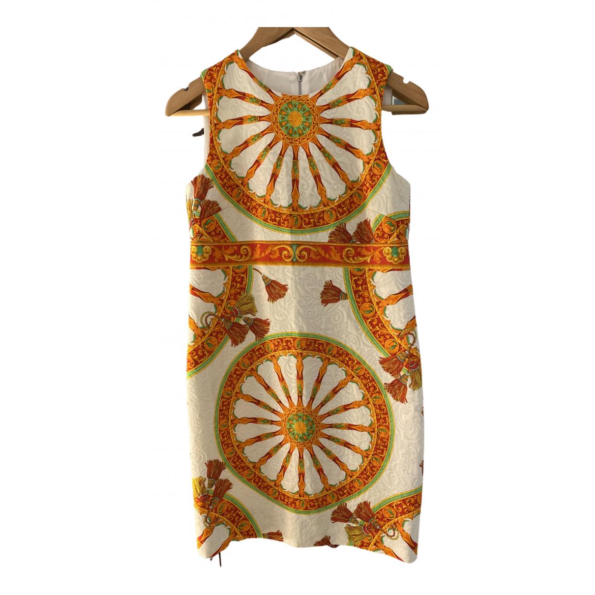 Dolce & Gabbana \N Kleid in  Orange Baumwolle