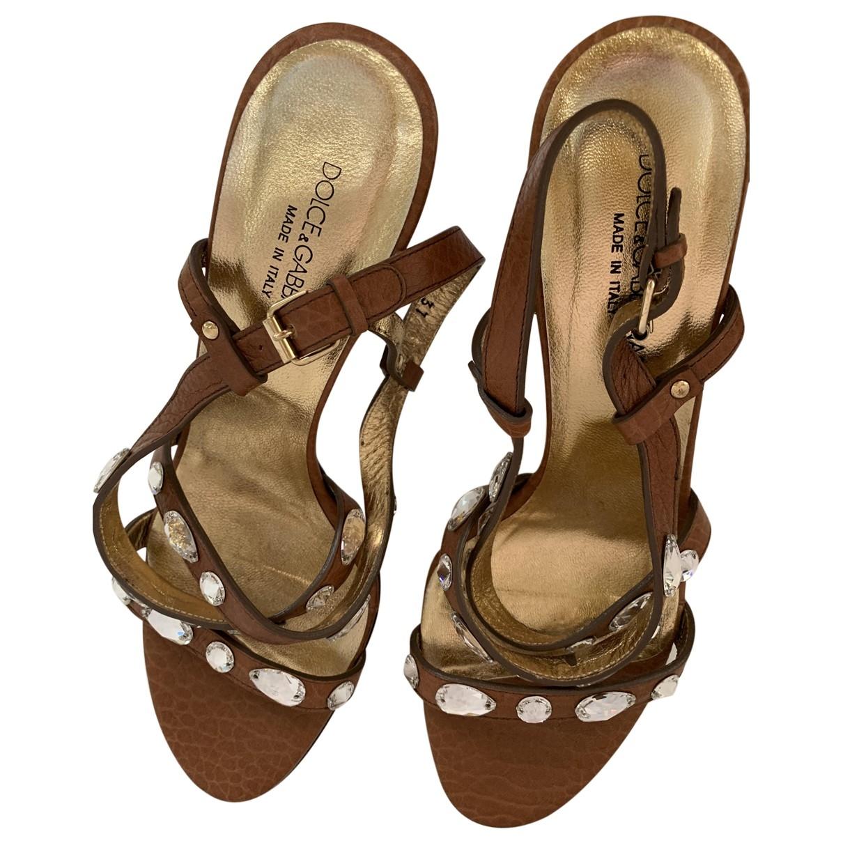 Dolce & Gabbana \N Leather Sandals for Women 37 EU