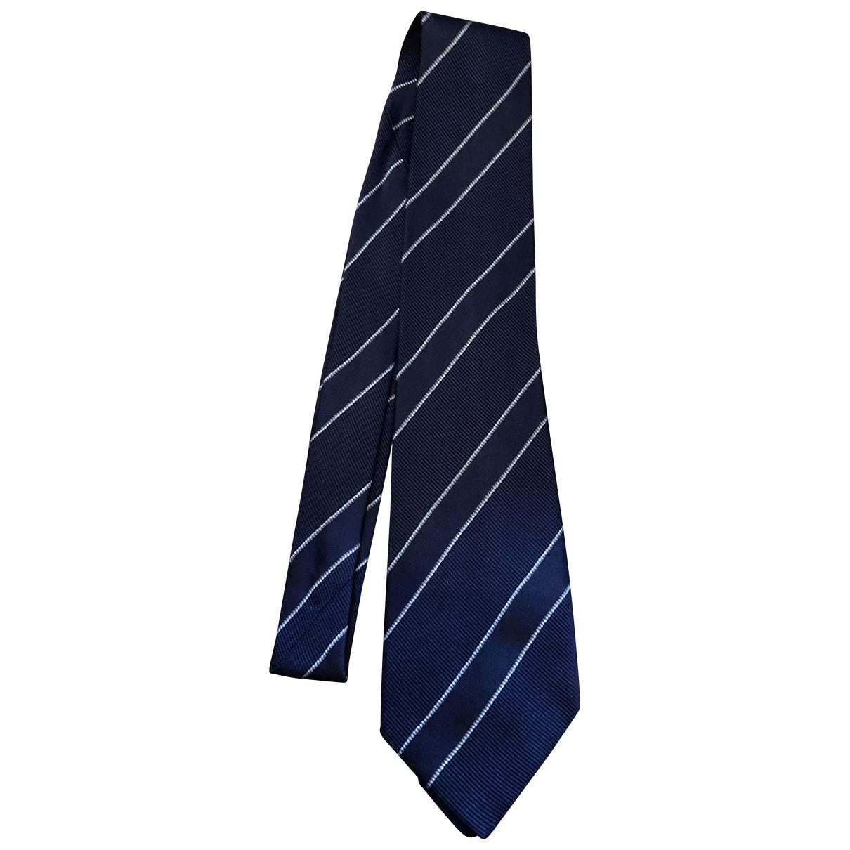 Armani Collezioni \N Krawatten in  Blau Seide