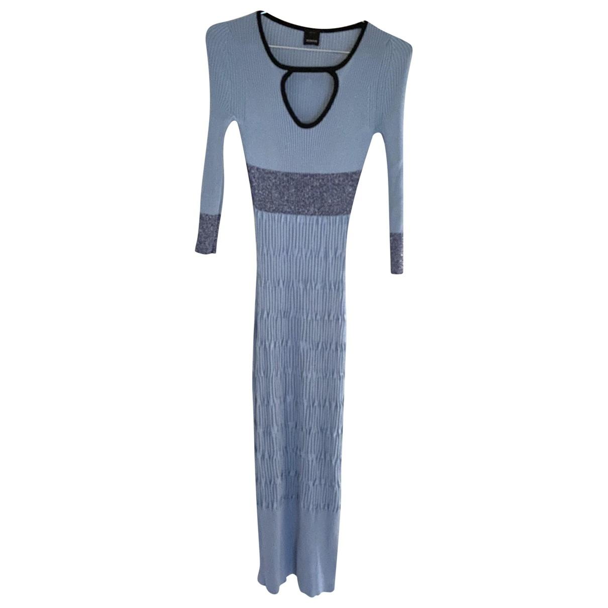 Pinko - Robe   pour femme en coton - elasthane - bleu