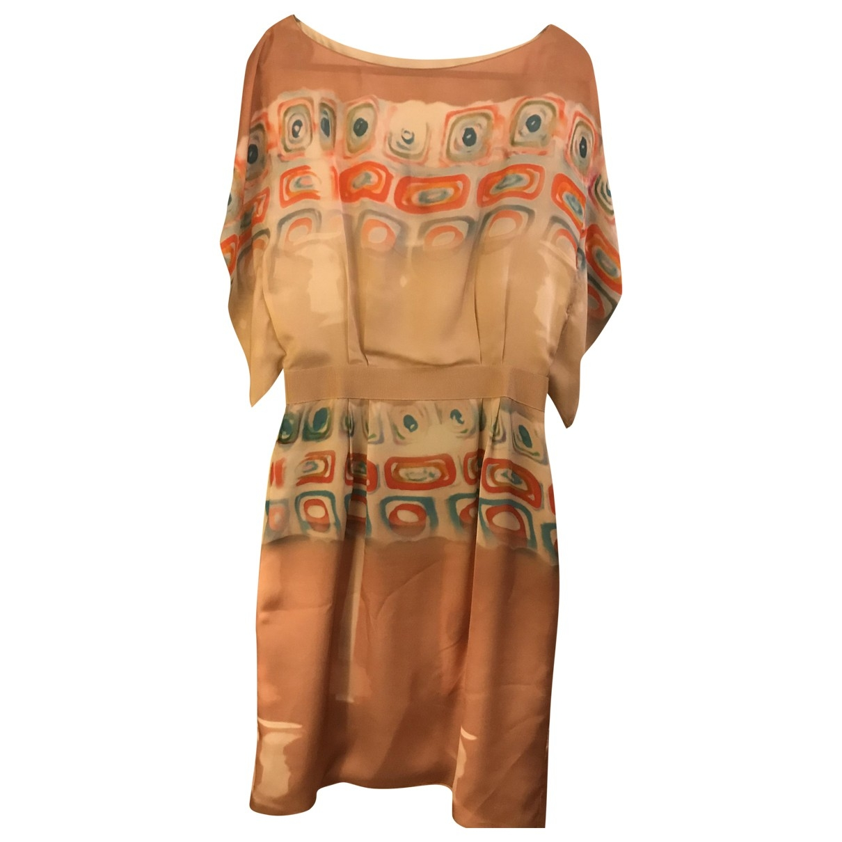 Alberta Ferretti \N Multicolour Silk dress for Women 40 IT