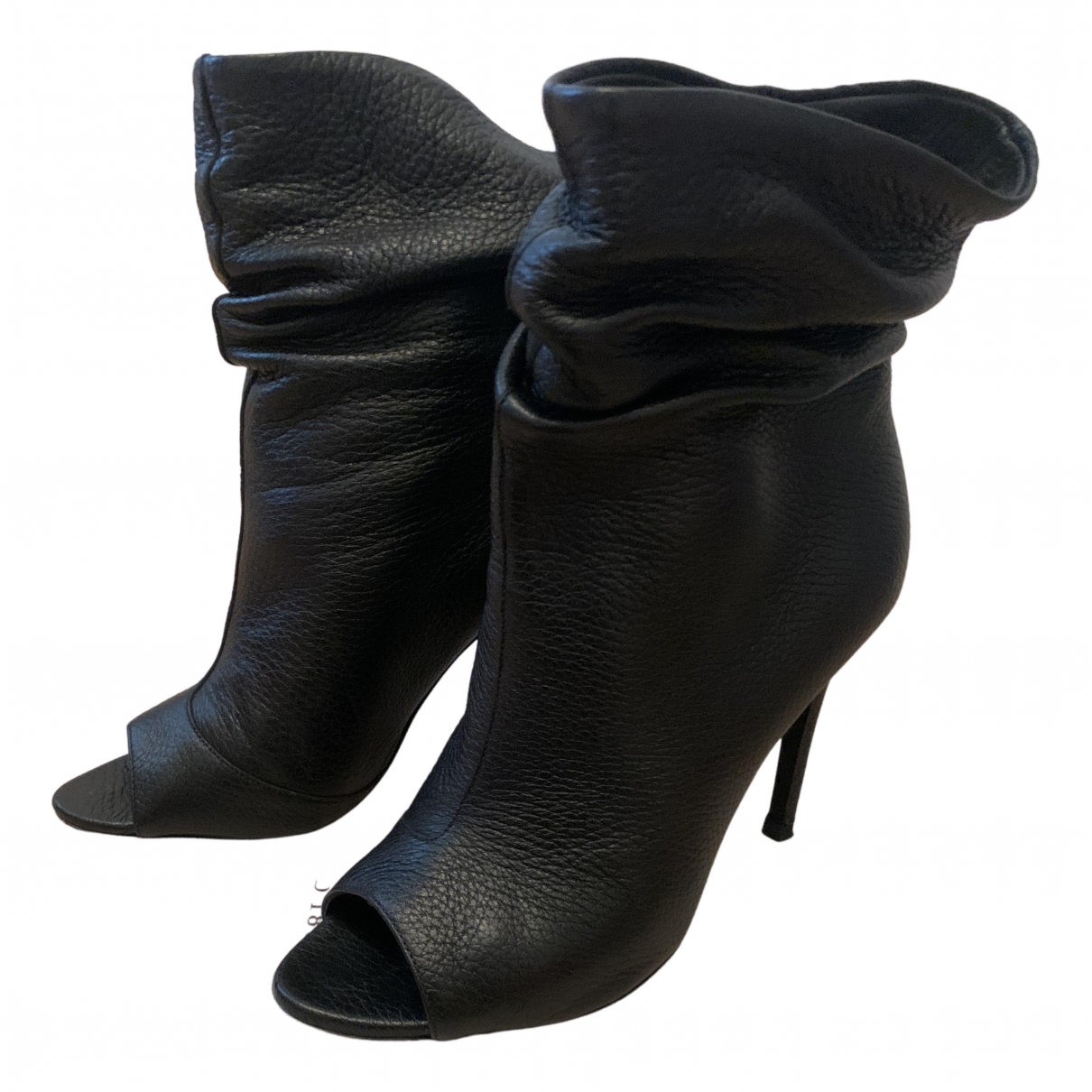 Burberry N Black Leather Ankle boots for Women 36 EU
