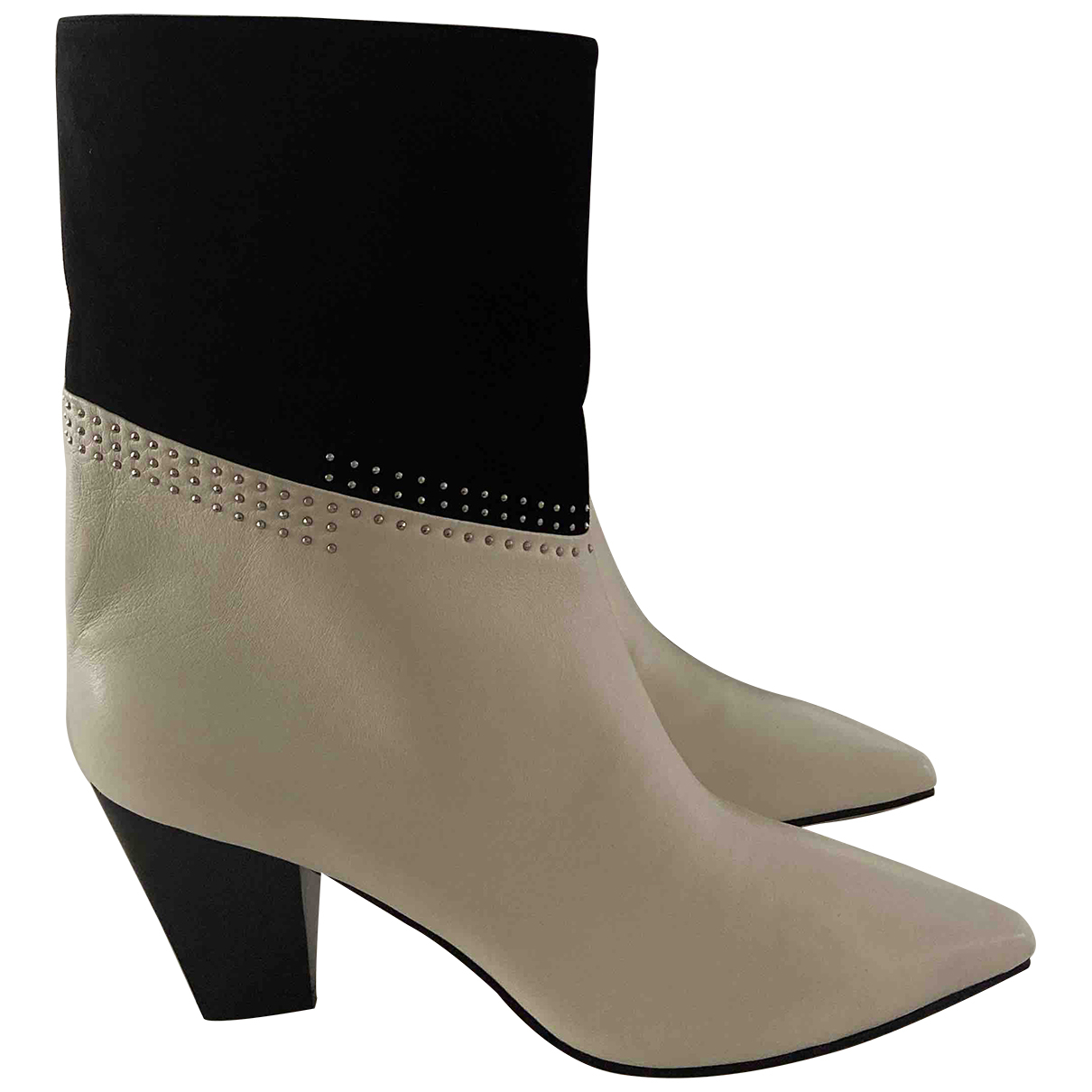 Jimmy Choo \N Black Leather Ankle boots for Women 39 EU