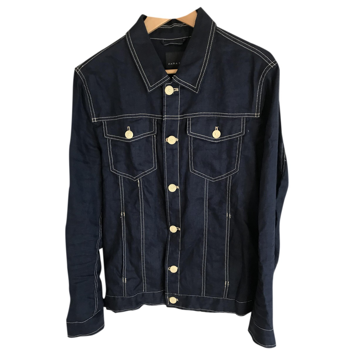 Zara N Navy Linen jacket  for Men M International