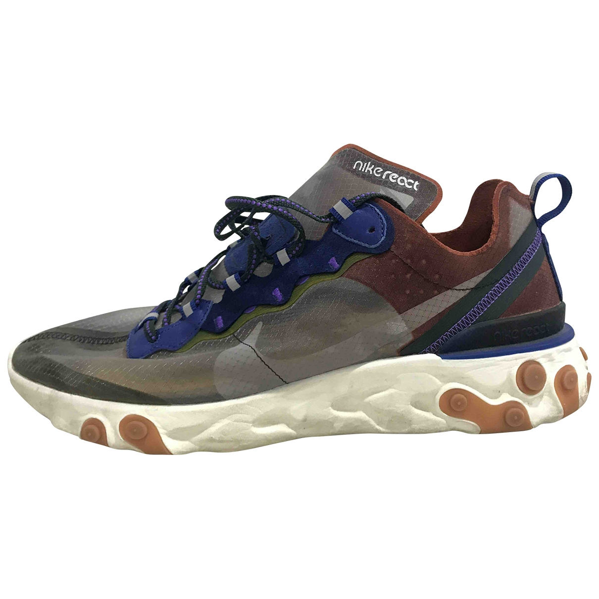 Nike - Baskets React Element 87  pour homme en toile - multicolore