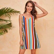 Cami Kleid mit buntem Streifen
