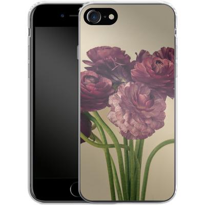Apple iPhone 8 Silikon Handyhuelle - Purple Ranunculus 4 von Joy StClaire