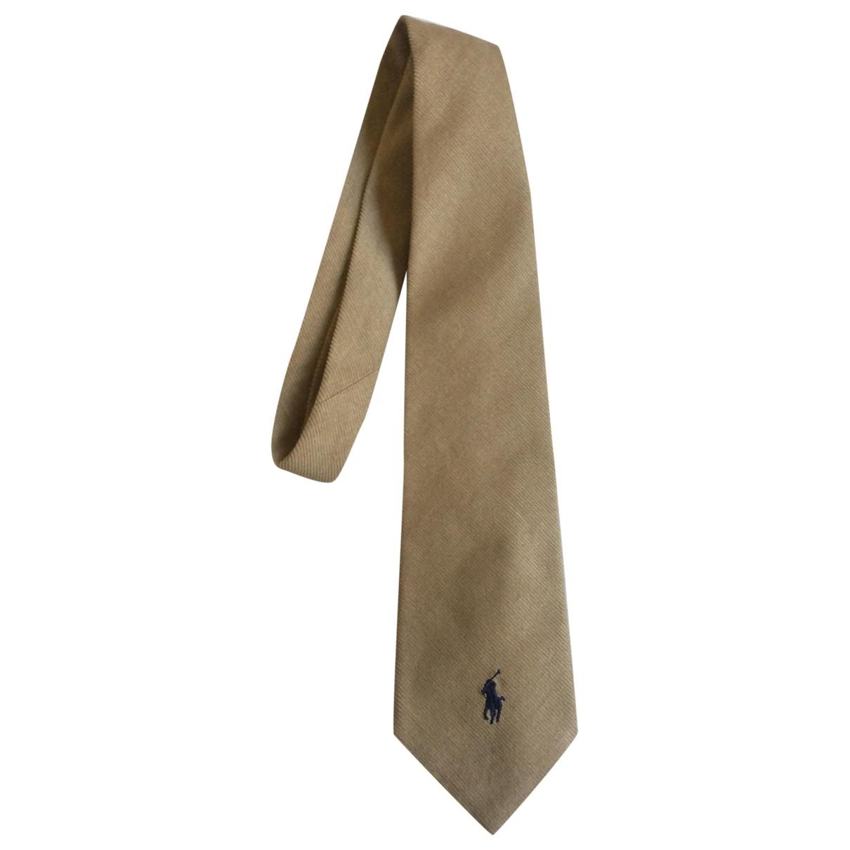 Polo Ralph Lauren \N Krawatten in  Kamel Baumwolle