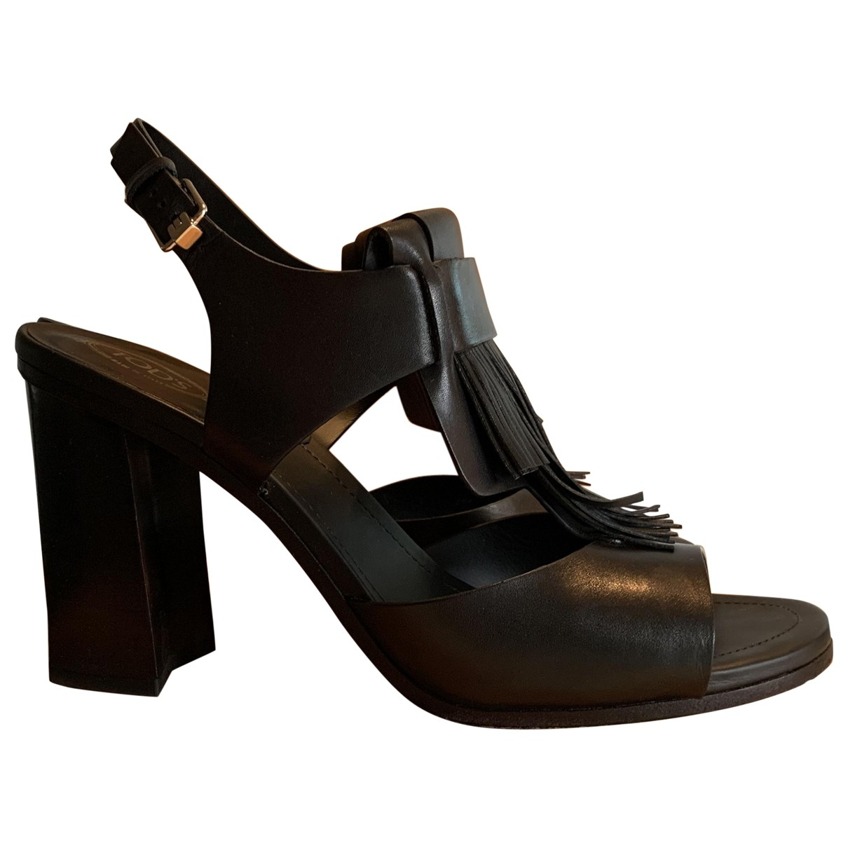 Tod's \N Black Leather Sandals for Women 41 EU