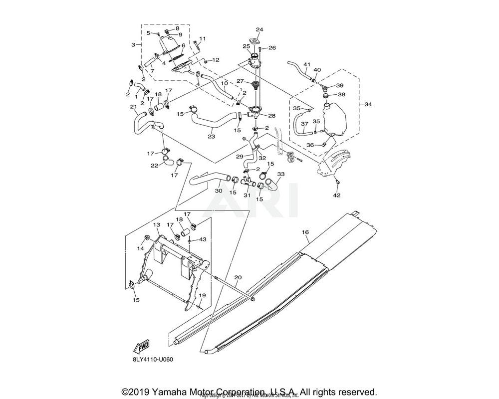Yamaha OEM 8MG-E244H-00-00 HOSE 5