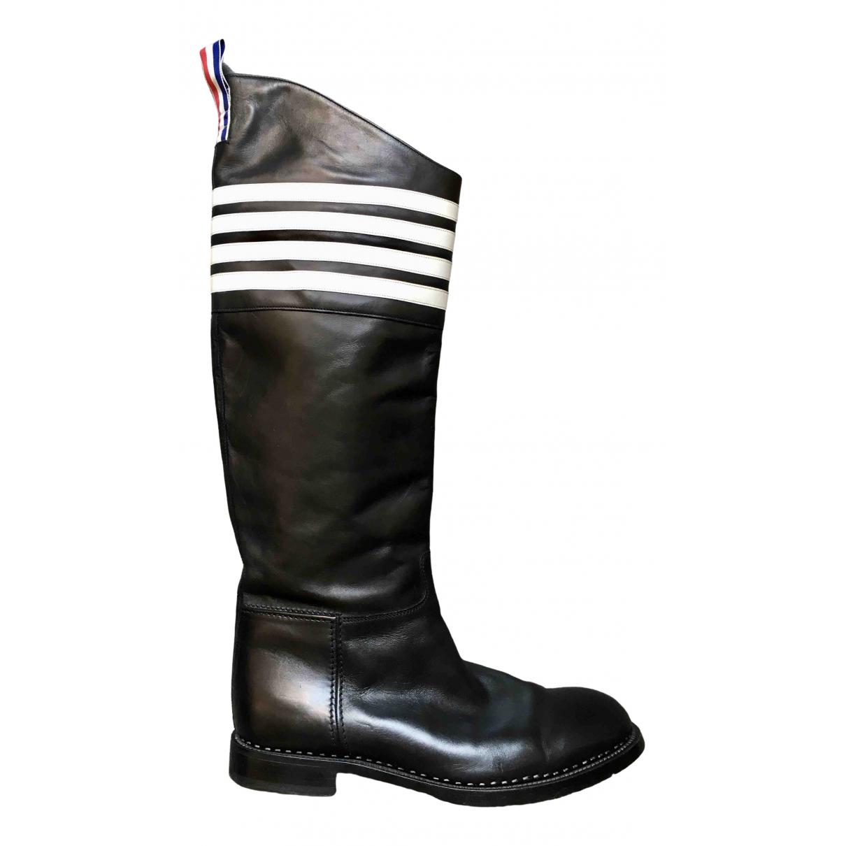 Thom Browne \N Stiefel in  Schwarz Leder