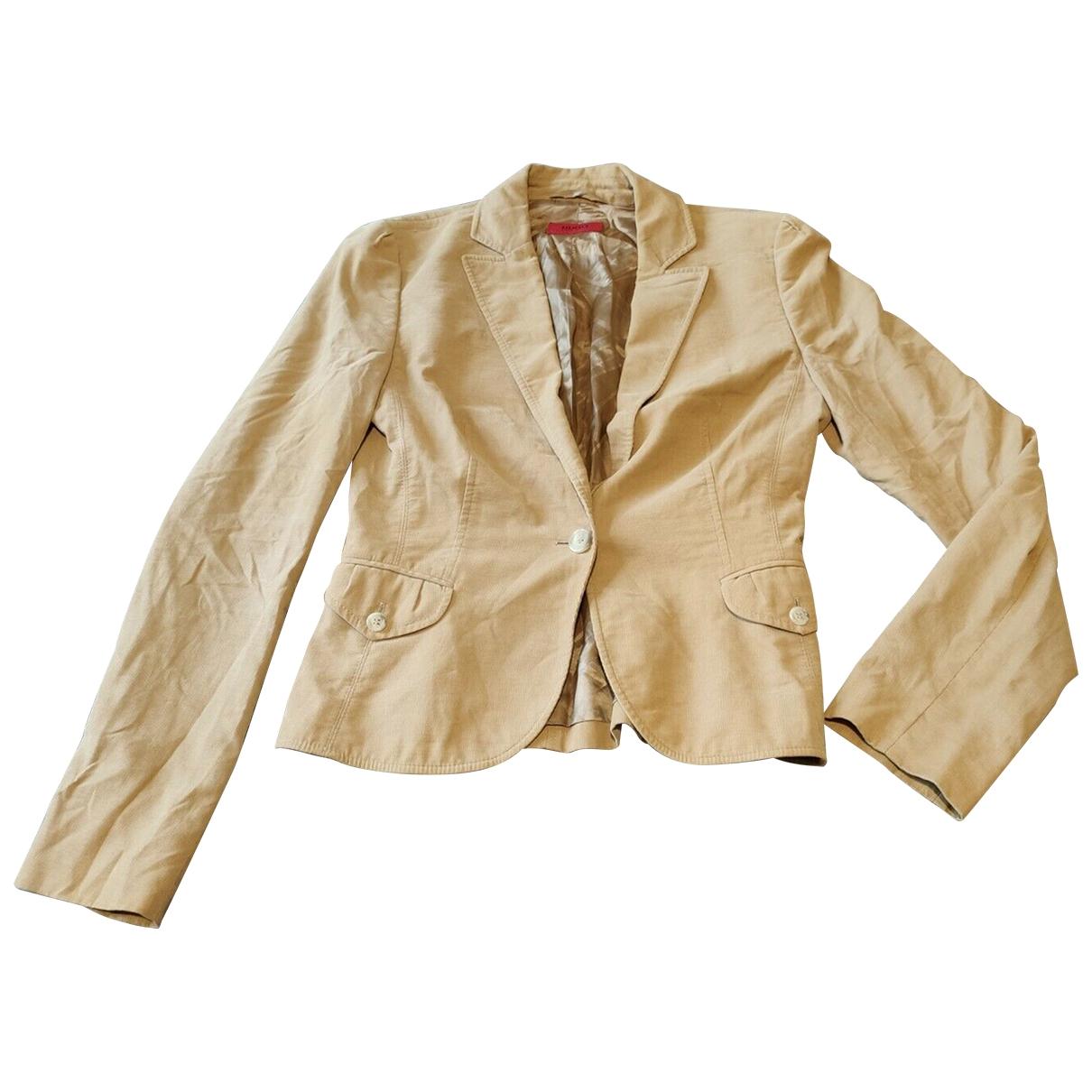 Hugo Boss - Veste   pour femme en coton - beige