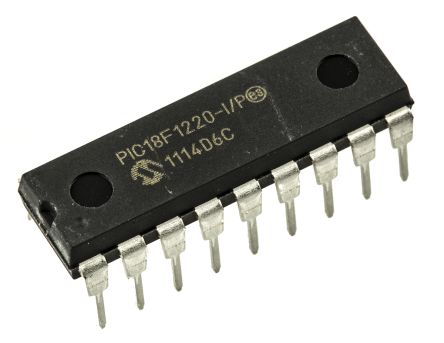 Microchip PIC18F1220-I/P, 8bit PIC Microcontroller, PIC18F, 40MHz, 4 kB, 256 B Flash, 18-Pin PDIP