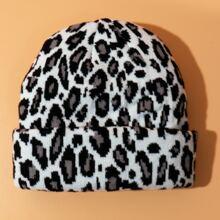 Leopard Knitted Beanie