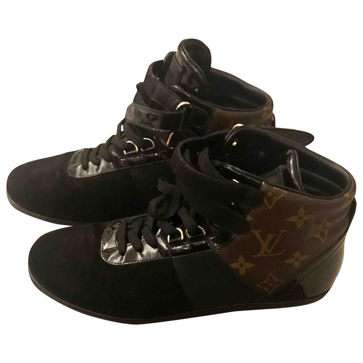 Louis Vuitton \N Black Cloth Trainers for Women 38 EU