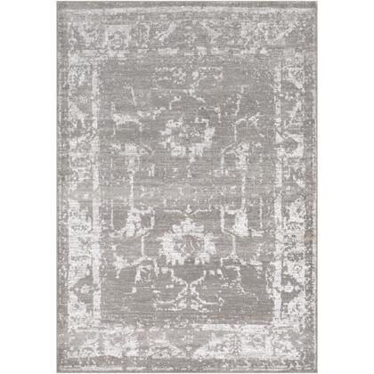 Florence FRO-2305 43 x 57 Rectangle Traditional Rug in Medium Gray  Light