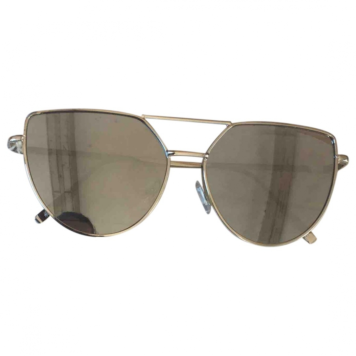 Non Signé / Unsigned \N Silver Metal Sunglasses for Women \N