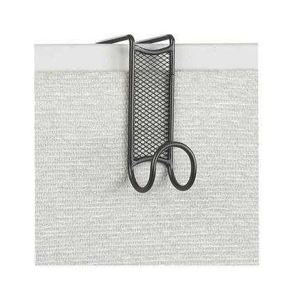Safco Onyx™ Partition Mesh Coat Hook, Black (4229BL)