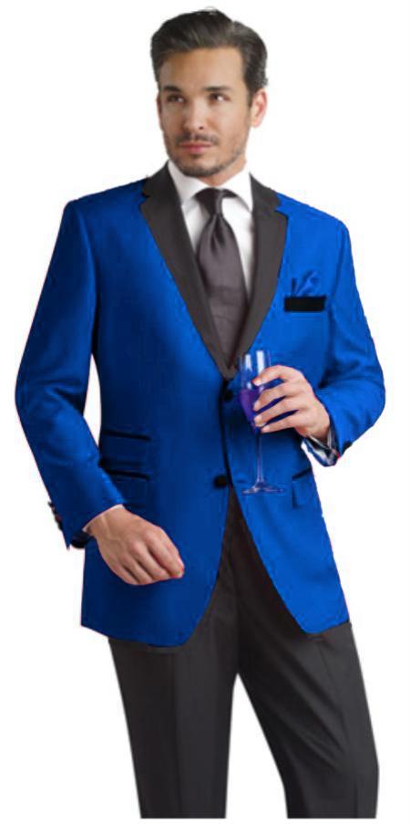 Royal Blue Two Button Notch Party Tuxedo