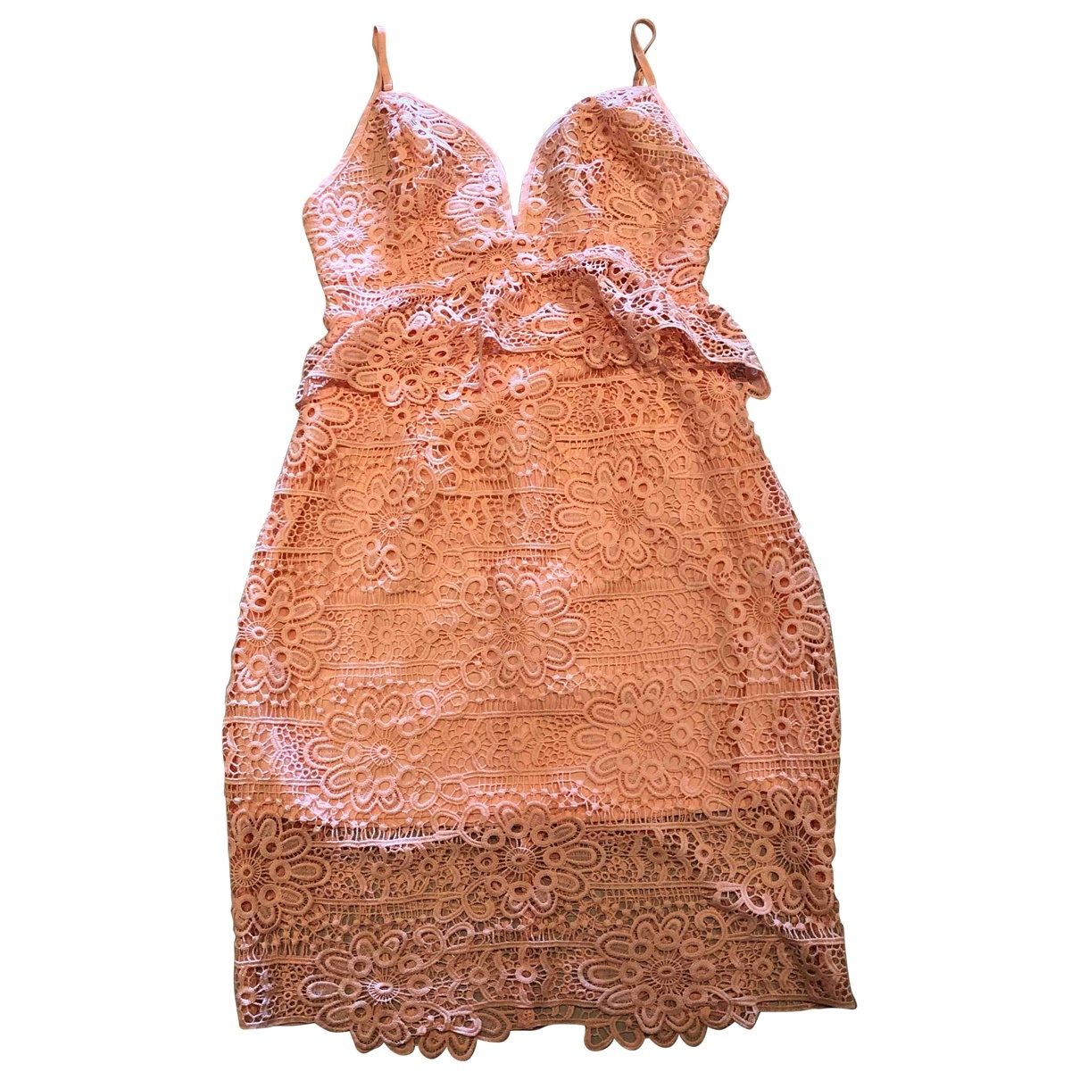 Guess \N Kleid in  Rosa Spitze