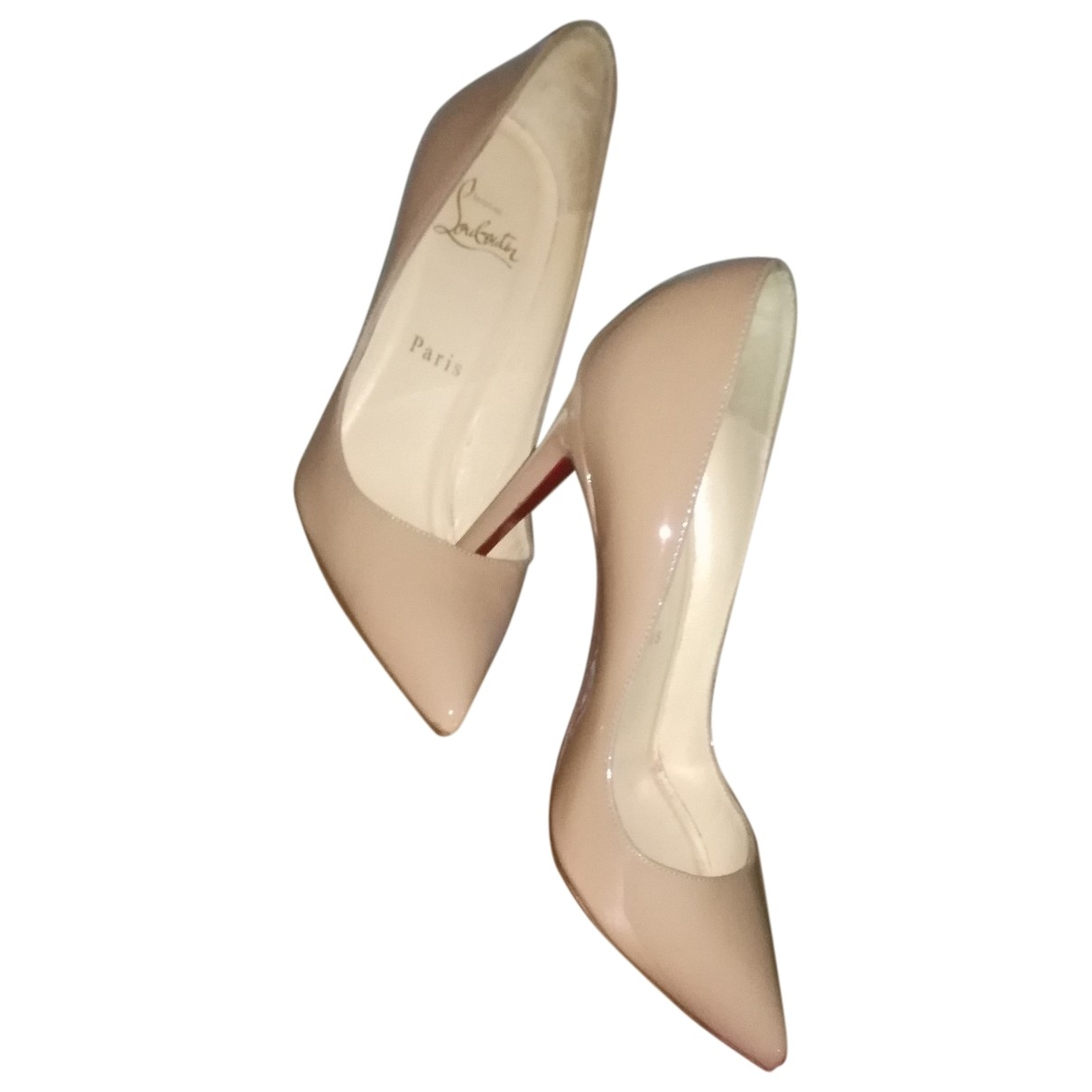 Christian Louboutin Pigalle Beige Patent leather Heels for Women 36 EU