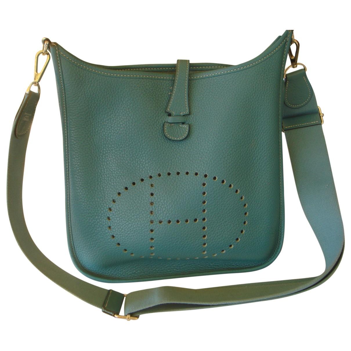 Hermes Evelyne Handtasche in  Blau Leder