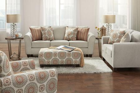 Austin Collection 1950BT4SET 4PC Living Room Set with Sofa  Loveseat  Chair and Ottoman in Beige