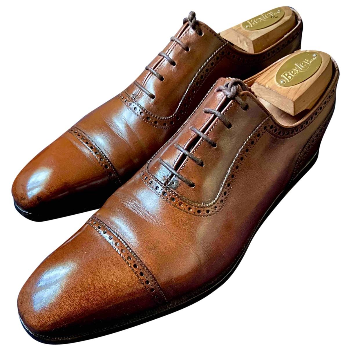 Crockett& Jones - Derbies   pour homme en cuir - marron