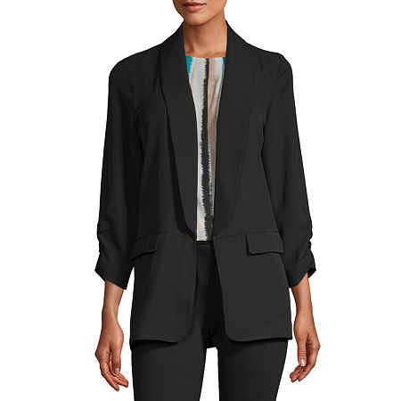 Worthington Womens Blazer, Petite Large , Black
