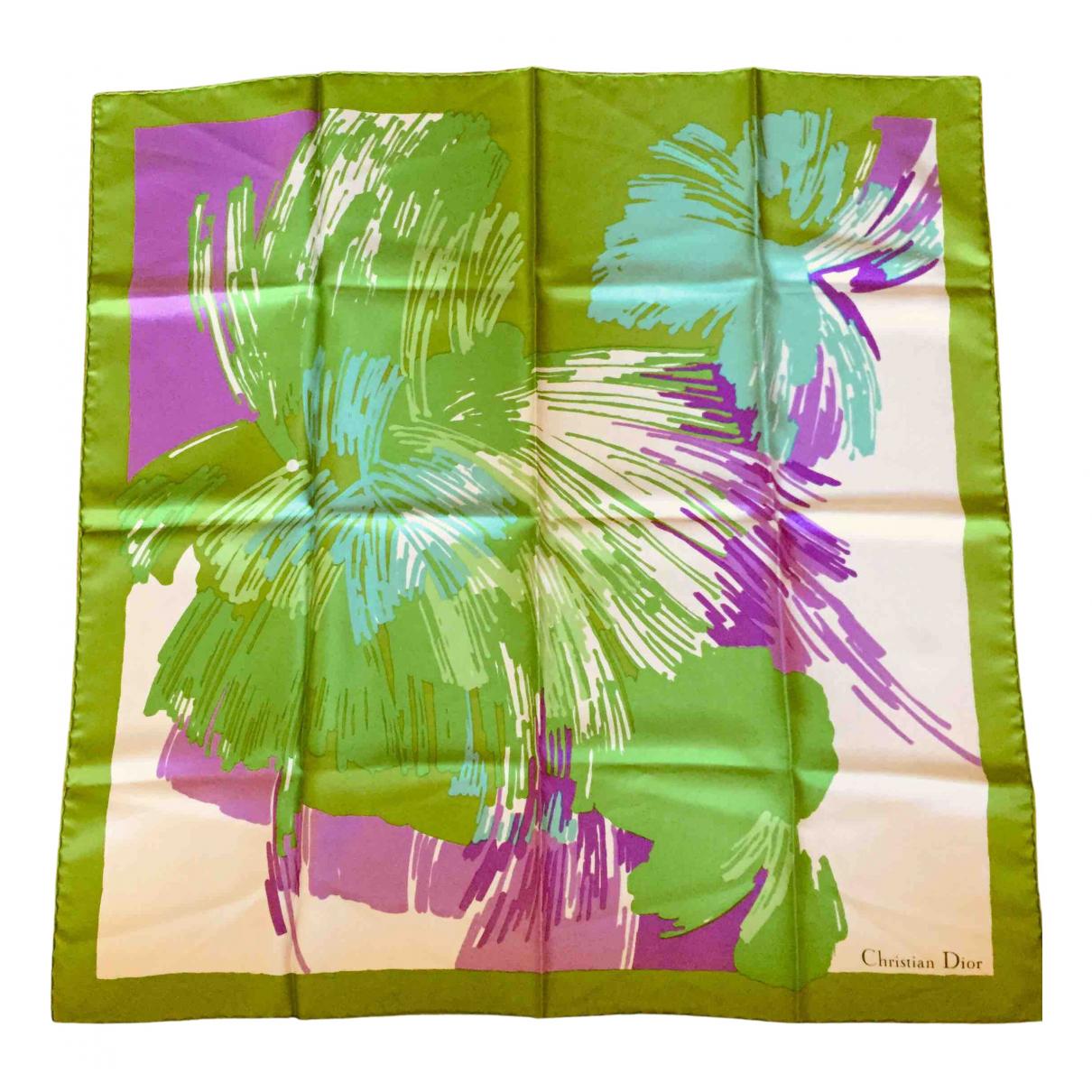 Dior - Carre   pour femme en soie - vert