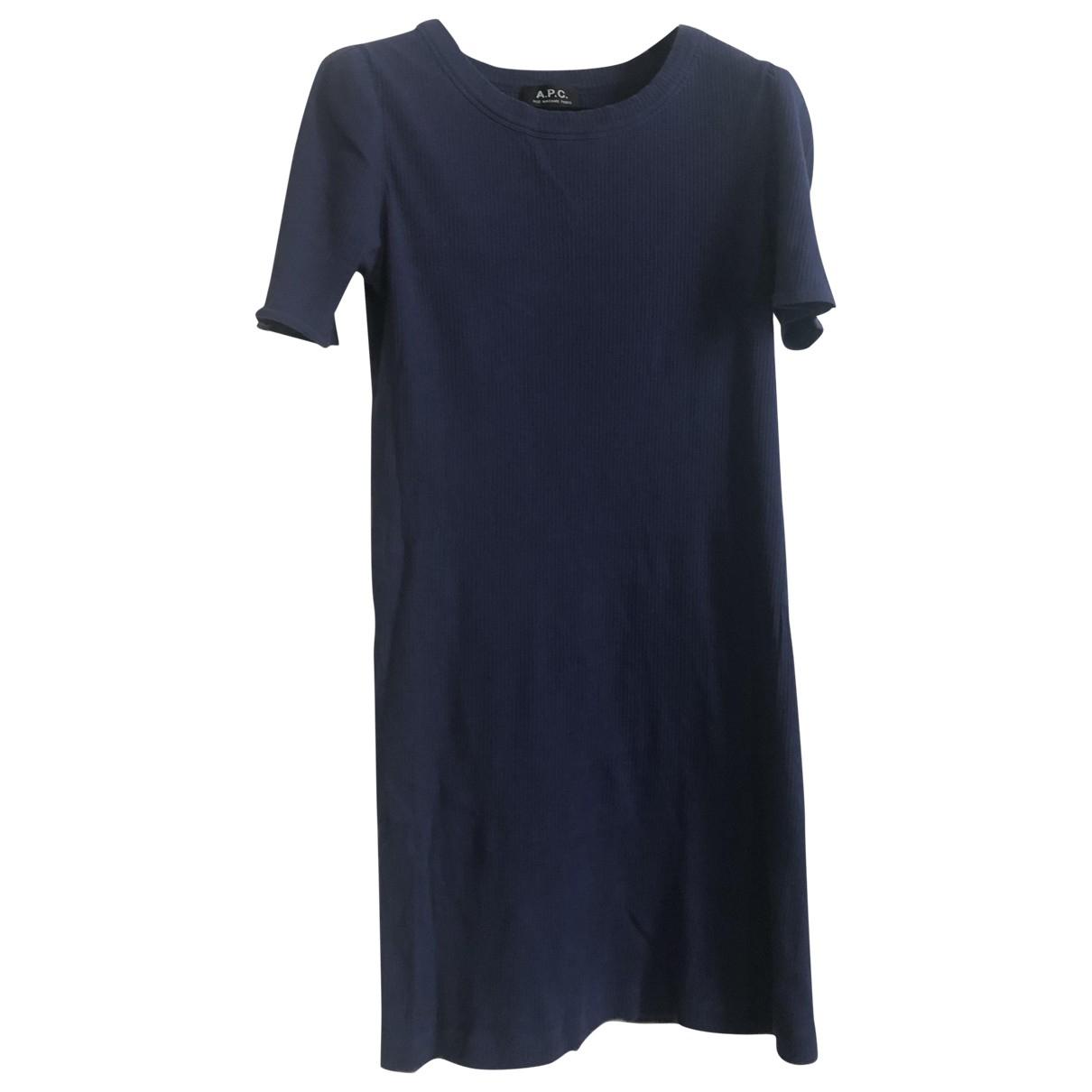 Apc \N Kleid in  Blau Baumwolle - Elasthan