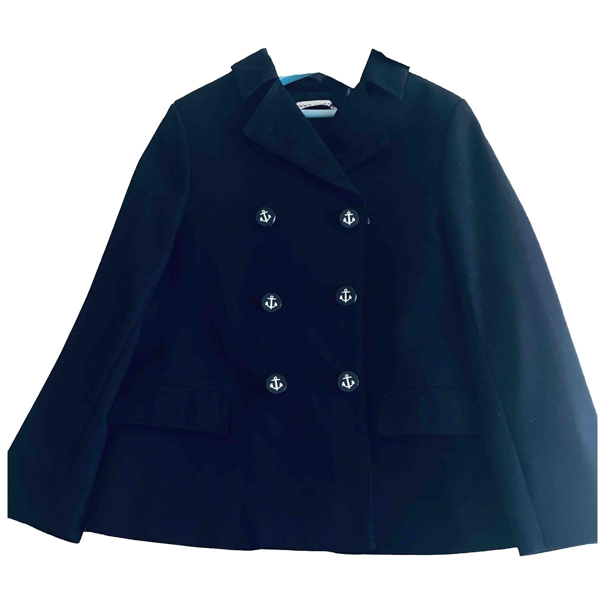 Dolce & Gabbana \N Jacke, Maentel in  Marine Baumwolle