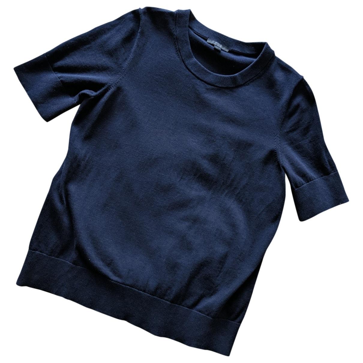 Cos - Top   pour femme en coton - marine