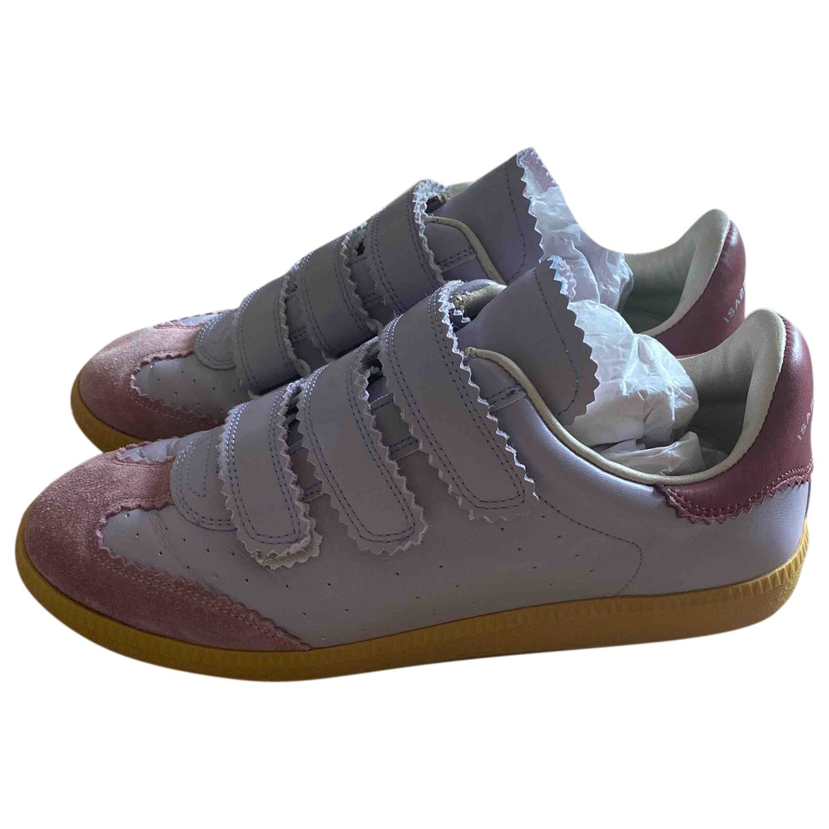 Isabel Marant Bryce Sneakers in  Lila Leder