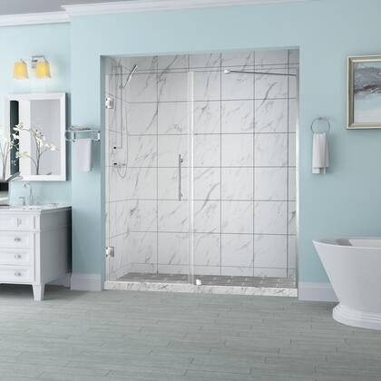 SDR965EZ-SS-6333-10 Belmore 62.25 To 63.25 X 72 Frameless Hinged Shower Door In Stainless