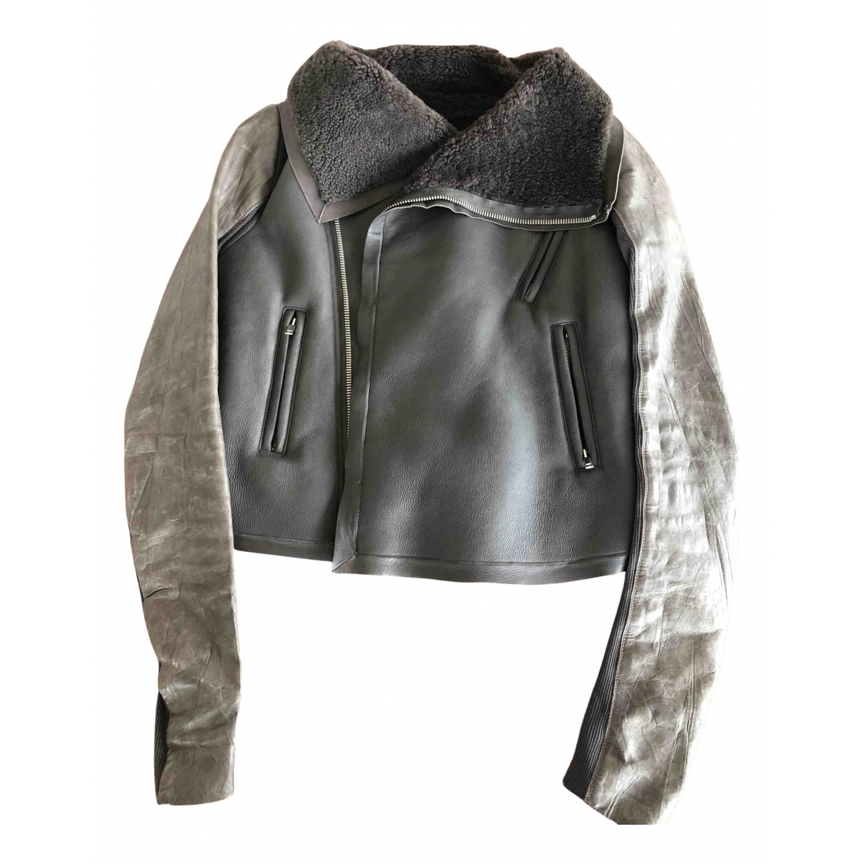 Rick Owens \N Brown Leather Leather jacket for Women 10 US