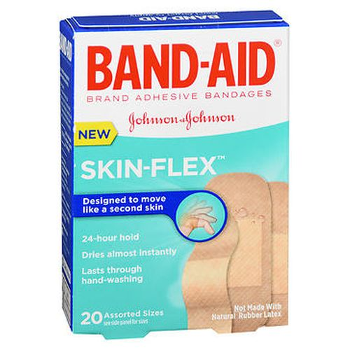 BandAid SkinFlex Bandages Assorted Sizes 20 Each by Aveeno
