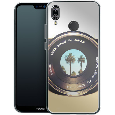 Huawei P20 Lite Silikon Handyhuelle - Focus On Palms von Bianca Green
