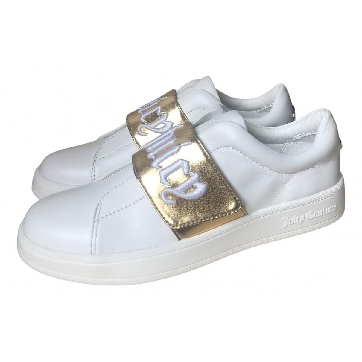 Juicy Couture \N Sneakers in  Weiss Leder