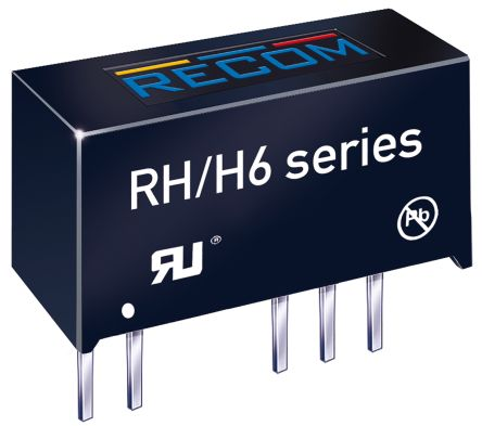 Recom RH 1W Isolated DC-DC Converter Through Hole, Voltage in ±21.6 V dc, ±26.4 V dc, Voltage out ±15V dc