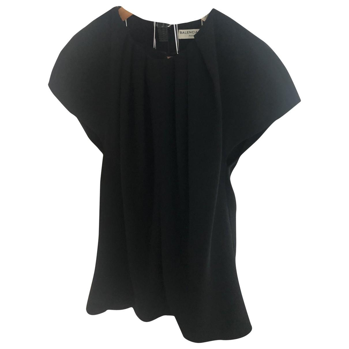 Balenciaga \N Top in  Schwarz Polyester