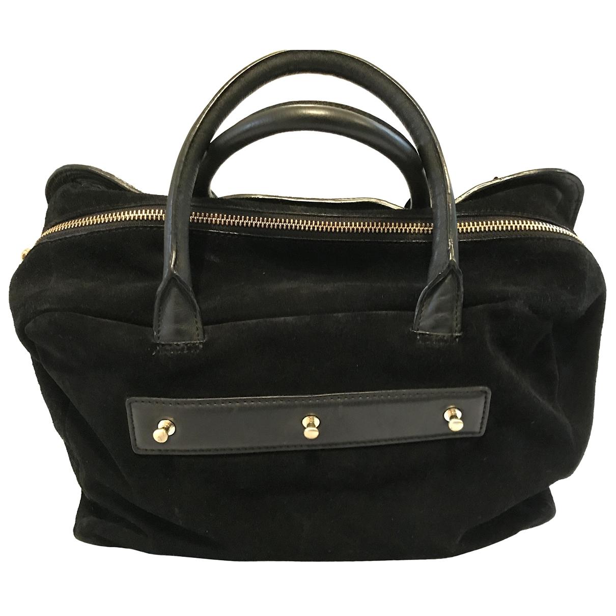 Maje \N Black Denim - Jeans handbag for Women \N