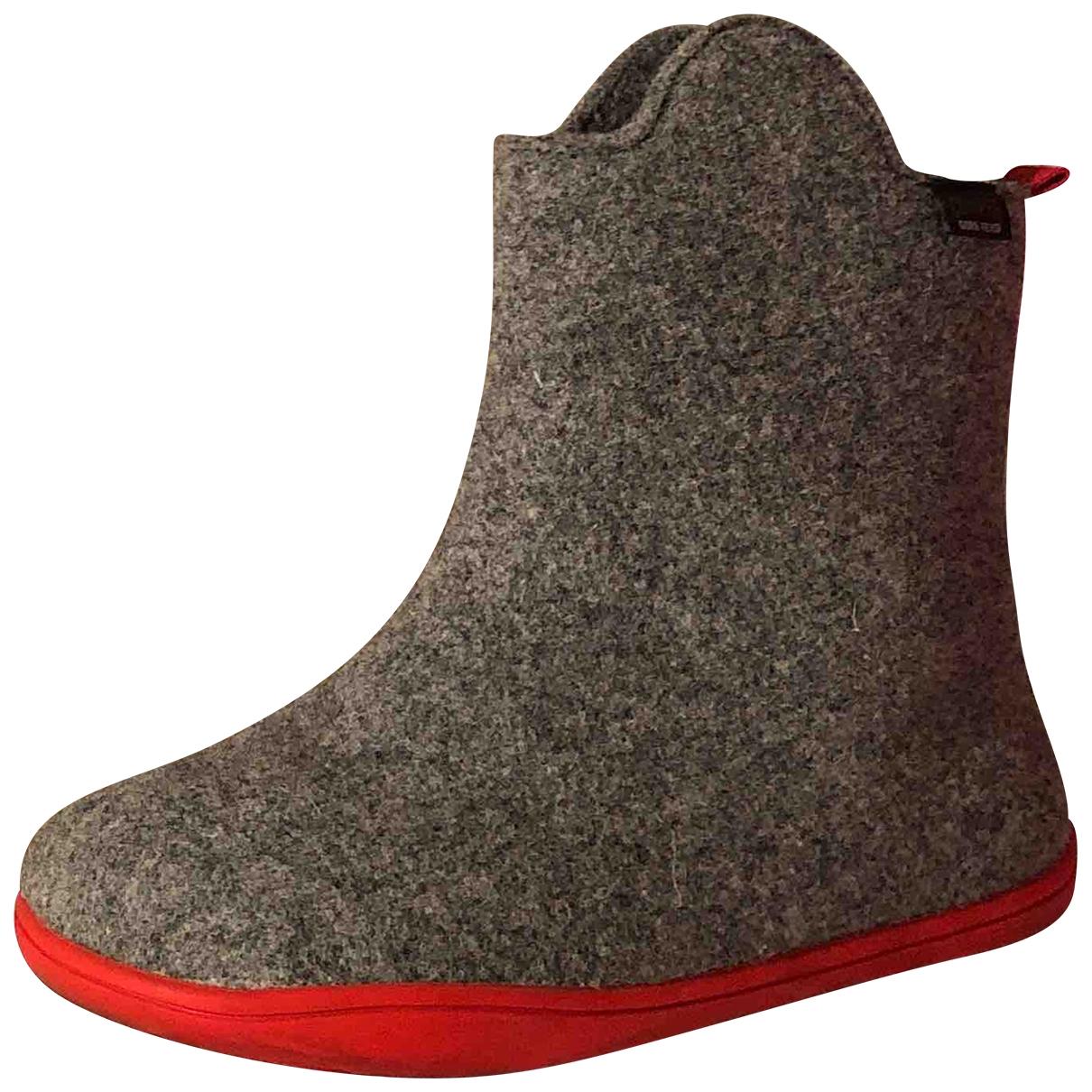 Camper \N Grey Cloth Boots for Kids 33 EU
