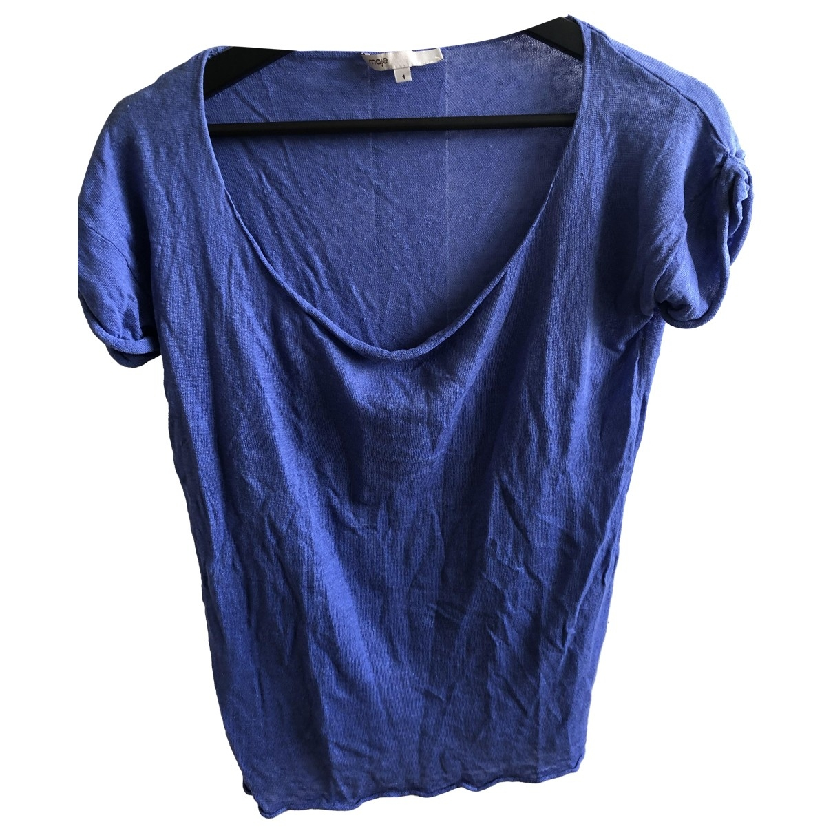 Maje \N Blue Linen  top for Women 1 0-5