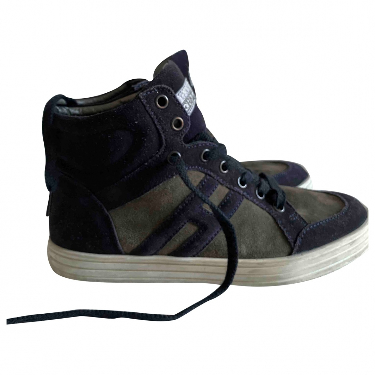 Hogan \N Blue Suede Lace up boots for Kids 35 EU